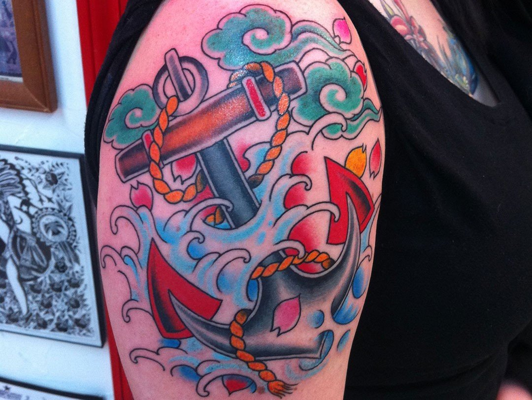TRADITIONAL ANCHOR HALF SLEEVE