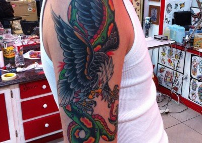 TRADITIONAL EAGLE SNAKE ON ARM